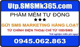 Phần mềm tự động gửi sms hàng loạt từ điện thoại với chi phí chỉ từ 10đ/sms