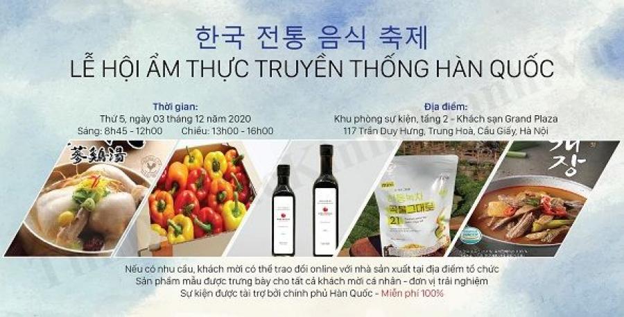 Lễ hội quảng bá văn hóa ẩm thực Hàn Quốc tại Việt Nam